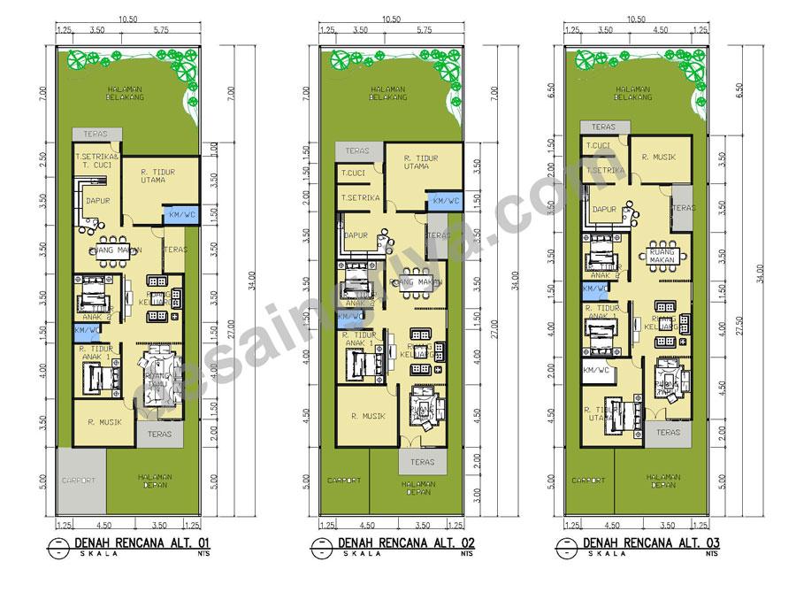 denah rumah minimalis pt desain griya indonesia desain