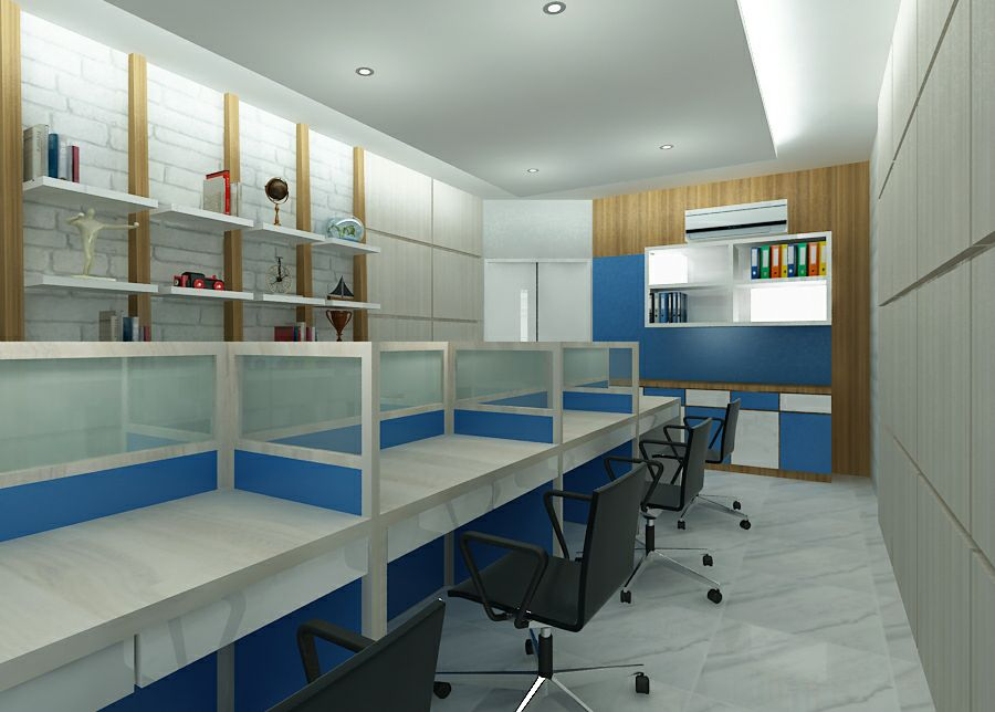 Interior kantor minimalis modern
