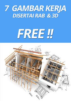 Download gambar kerja dan RAB gratis