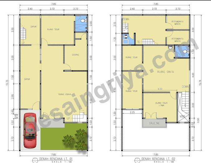 Denah-Rumah-2-lantai-minima