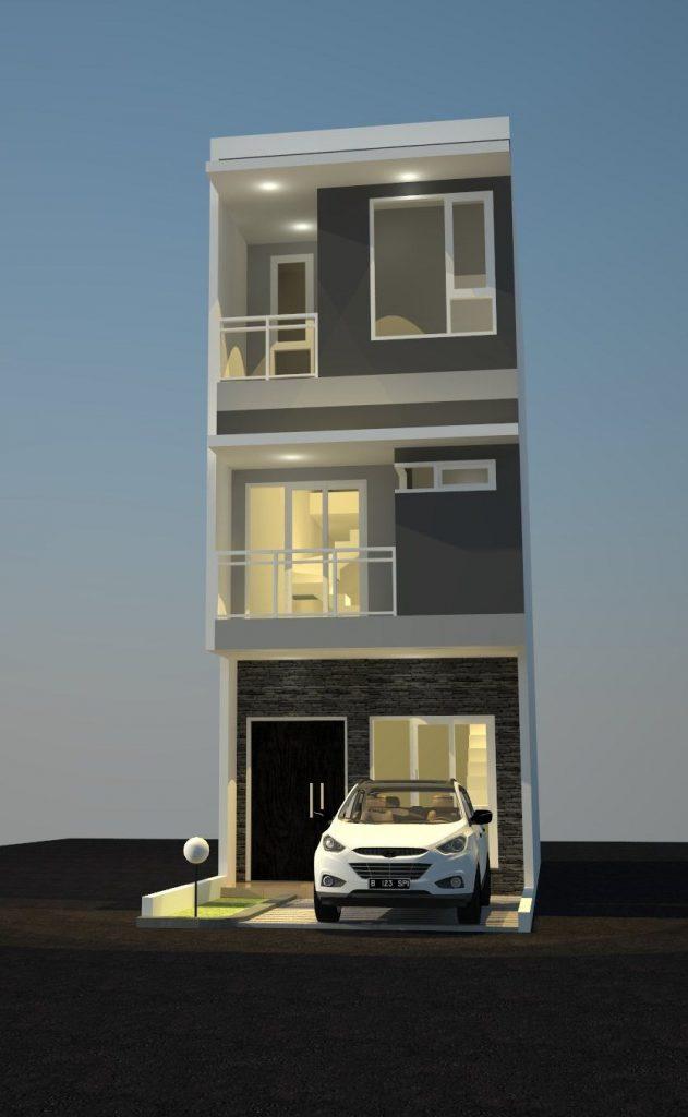 Desain Rumah Minimalis Lebar 5 Meter  rumah lebar 4 meter panjang 14 meter pt desain griya