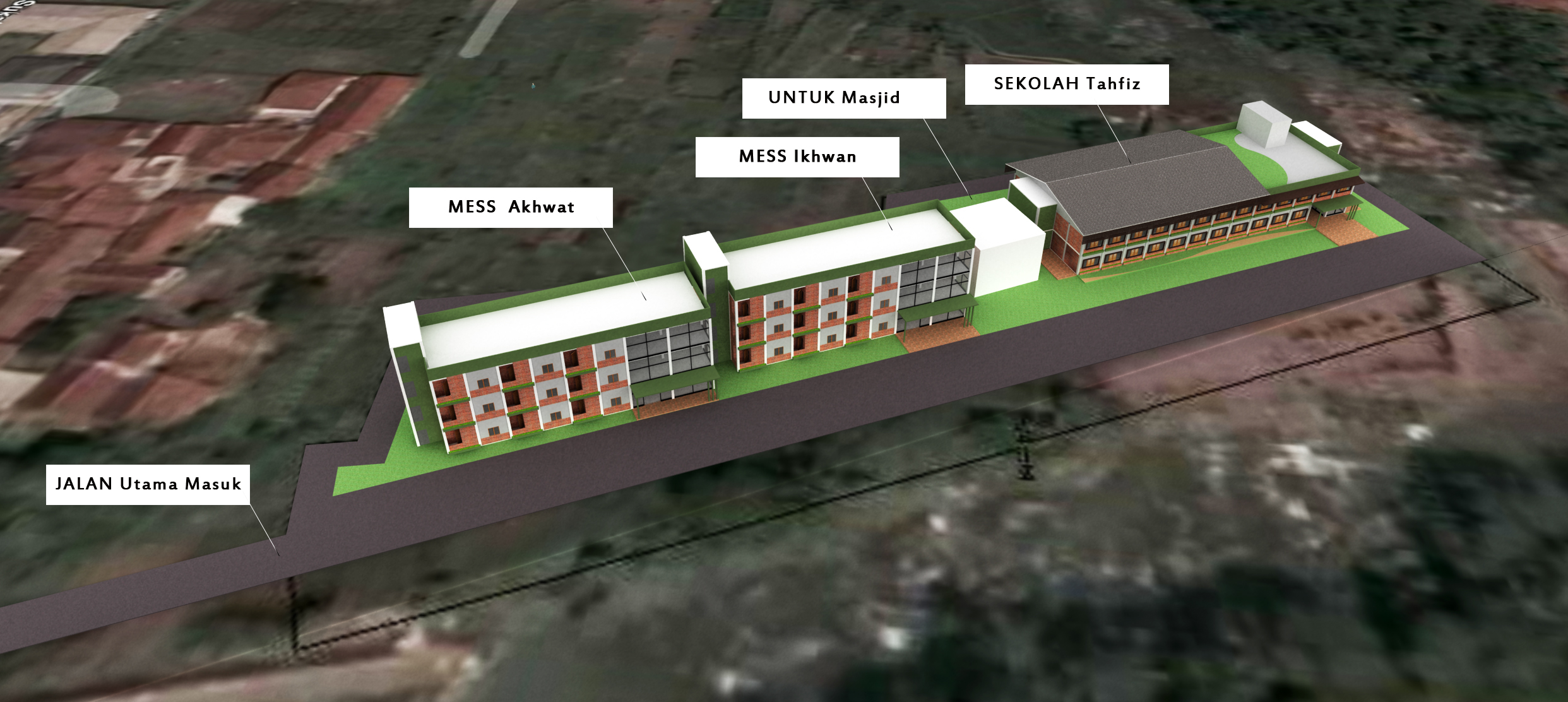 Desain Pondok Pesantren Modern 3 Lantai