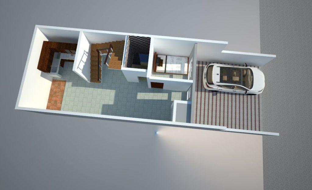 Denah 3d Lantai 1